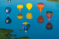 Mondial热空气轻快优雅留尼汪岛在洛林法国 库存照片