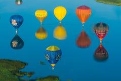 Mondial hoade luftar Ballonmöte i Lorraine Frankrike Arkivfoto