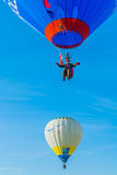 Mondial hoade luftar Ballonmöte i Lorraine Frankrike Arkivbild