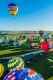 Mondial hoade luftar Ballonmöte i Lorraine Frankrike Royaltyfria Foton