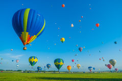 Mondial hot Air Ballon reunion in Lorraine France Stock Images