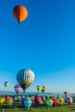 Mondial hot Air Ballon reunion in Lorraine France Stock Image