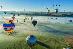 Mondial hot Air Ballon reunion in Lorraine France Royalty Free Stock Photo