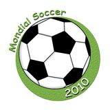 Mondial soccer 2010. Illustration of a logo for the mondial 2010 soccer Royalty Free Stock Images