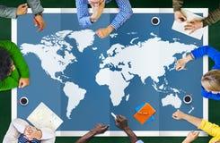 Mondialisation Co internationale de cartographie d'affaires globales du monde illustration libre de droits