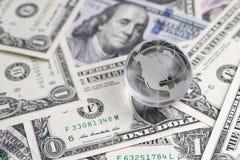 Mondialisation des Etats-Unis anti ou centre financière de l'EC du monde Images libres de droits