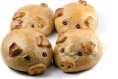 Mondkuchen der piggy Querneigung vier stockfotografie