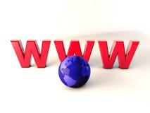 Mondo 3d di WWW Immagine Stock