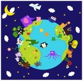 Mondo animale illustrazione vettoriale