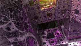 Mondo astratto del cubo del fondo Fotografie Stock