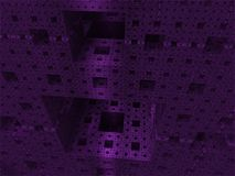 Mondo astratto del cubo del fondo Fotografia Stock Libera da Diritti