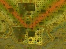 Mondo astratto del cubo del fondo Fotografia Stock