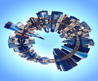 Mondo astratto dell'orizzonte di New York Fotografie Stock Libere da Diritti