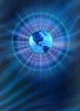 Mondo binario - priorità bassa blu Fotografia Stock Libera da Diritti