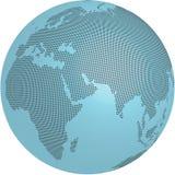 Mondo blu Fotografia Stock Libera da Diritti
