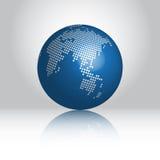 Mondo blu Fotografie Stock