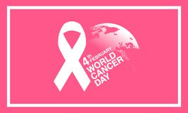 Mondo cancro giorno fondo del 4 febbraio illustrazione di stock