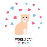 Mondo Cat Day Fotografia Stock Libera da Diritti