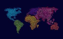 Mondo Colourful illustrazione di stock