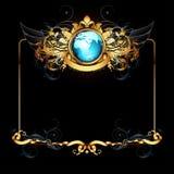 Mondo con il blocco per grafici decorato Fotografia Stock