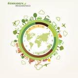 Mondo, concetto globale di ecologia Immagini Stock Libere da Diritti