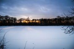 Mondo congelato, potere della natura Fotografia Stock
