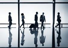 Mondo corporativo della gente di viaggio d'affari fotografia stock libera da diritti