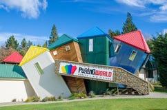 Mondo d'imbarazzo che è situato all'isola del sud in Nuova Zelanda fotografia stock libera da diritti