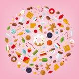 Mondo dei dolci e di Candy Immagine Stock Libera da Diritti