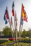 Mondo dei paesi delle bandiere Immagine Stock