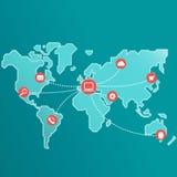 Mondo del collegamento a Internet royalty illustrazione gratis