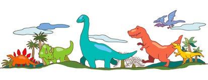 Mondo del dinosauro nell'immaginazione dei bambini Immagini Stock Libere da Diritti