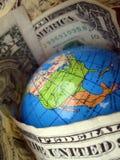Mondo del dollaro Fotografia Stock Libera da Diritti