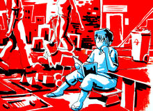 Mondo del libro di lettura del ragazzo di immaginazione Immagine Stock Libera da Diritti