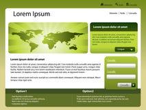 Mondo del modello di Web site Fotografia Stock Libera da Diritti