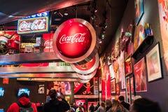 Mondo del museo della coca-cola a Atlanta Georgia U.S.A. Fotografie Stock