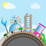 Mondo del parco di divertimenti Immagini Stock
