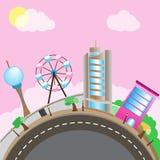 Mondo del parco di divertimenti Fotografia Stock