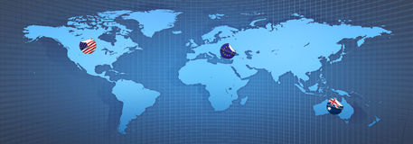 Mondo del programma Immagine Stock