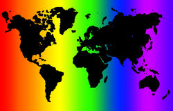 Mondo del Rainbow Fotografie Stock
