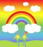 Mondo del Rainbow Immagini Stock Libere da Diritti