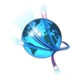 Mondo della fibra illustrazione di stock