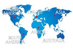 Mondo della mappa Fotografia Stock