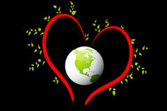 Mondo di amore Immagini Stock