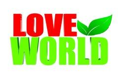 Mondo di amore Fotografia Stock
