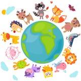 Mondo di animali Fotografia Stock