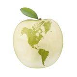 Mondo di Apple Fotografie Stock Libere da Diritti