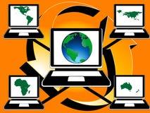 Mondo di collegamento Immagine Stock