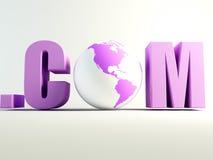 Mondo di COM Fotografia Stock Libera da Diritti