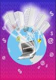Mondo di commercio elettronico Immagini Stock Libere da Diritti